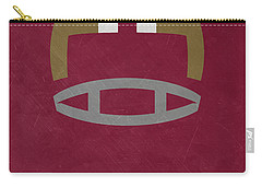 Florida State Seminoles Vintage Football Art Carry-all Pouch by Joe Hamilton