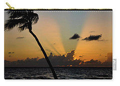 Carry-all Pouch featuring the photograph Florida Sunrise Palm by Kelly Wade
