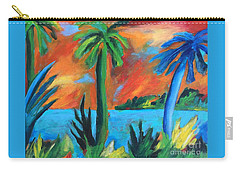 Florida Sunset Carry-all Pouch by Elizabeth Fontaine-Barr