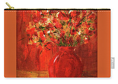 Florists Red Carry-all Pouch by P J Lewis