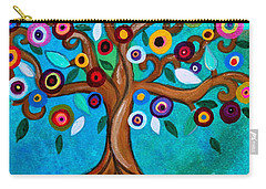 Carry-all Pouch featuring the painting Flourishing Tree by Pristine Cartera Turkus