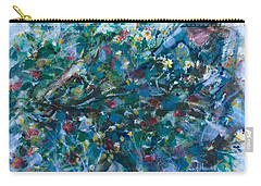 Carry-all Pouch featuring the painting Flow Away by Laila Awad Jamaleldin