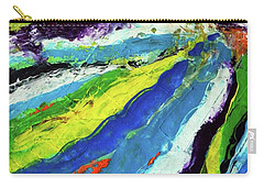 Carry-all Pouch featuring the painting Flowage by Everette McMahan jr