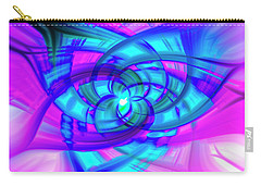 Carry-all Pouch featuring the photograph Flower Abstract by Penny Lisowski