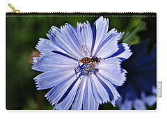 Flower And Bee 2 Carry-all Pouch by Joe Faherty