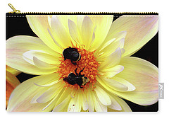 Flower And Bees Carry-all Pouch