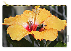 Flower Bee Carry-all Pouch