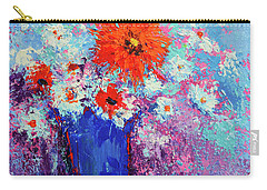 Flower Bouquet Modern Impressionistic Art Palette Knife Work Carry-all Pouch