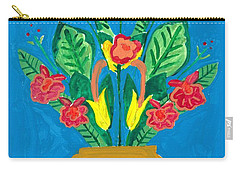 Flower Bowl Carry-all Pouch by Margie-Lee Rodriguez