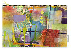 Flower Dance Carry-all Pouch by Hailey E Herrera