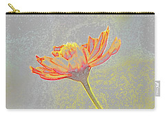 Carry-all Pouch featuring the photograph Flower Drawing by Ellen Barron O'Reilly