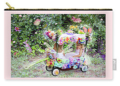 Flower Fairies In A Flower Mobile Carry-all Pouch