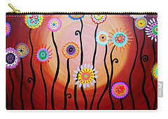Carry-all Pouch featuring the painting Flower Fest by Pristine Cartera Turkus