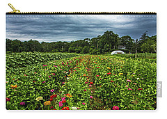 Flower Field At North Sea Farms Carry-all Pouch