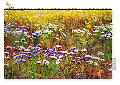 Carry-all Pouch featuring the photograph Flower Fields by Glenn McCarthy Art and Photography