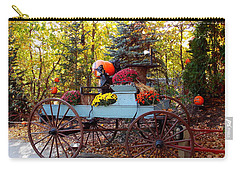 Flower Filled Wagon Carry-all Pouch
