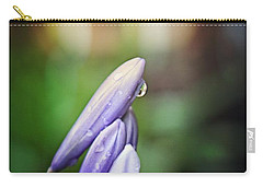Carry-all Pouch featuring the photograph Flower Fire Light Bokeh by Ella Kaye Dickey