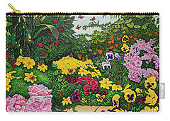 Flower Garden Xii Carry-all Pouch by Michael Frank