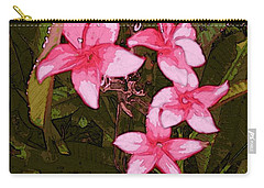 Carry-all Pouch featuring the digital art Flower Gems by Winsome Gunning