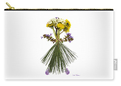 Carry-all Pouch featuring the digital art Flower Head by Lise Winne