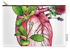 Flower Heart Carry-all Pouch by Heidi Kriel