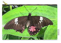Flower Imprint On Wing Carry-all Pouch