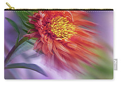 Carry-all Pouch featuring the photograph Flower In The Wind by Nina Bradica