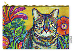 Flower Kitty Carry-all Pouch by Robert Phelps