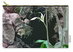 Flower, Leaf And Stone Carry-all Pouch