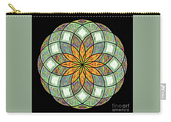 Carry-all Pouch featuring the digital art Flower Mandala Painted By Kaye Menner by Kaye Menner