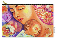 Carry-all Pouch featuring the painting Flower Nap by Eva Campbell