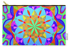 Flower Of Life Mandala Carry-all Pouch