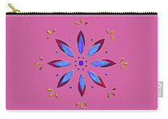 Carry-all Pouch featuring the mixed media Flower On Pink by Elizabeth Lock