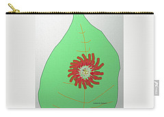 Carry-all Pouch featuring the painting Flower On The Leaf by Lenore Senior