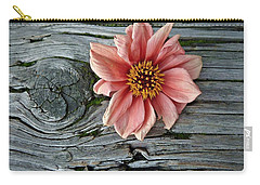 Flower On Wood I Carry-all Pouch