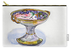 Flower Pedestal Dish Carry-all Pouch