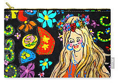 Flower Power Carry-all Pouch by Barbara O'Toole