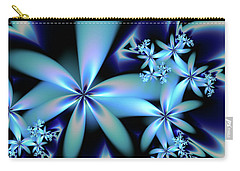 Flower Power Blue Carry-all Pouch