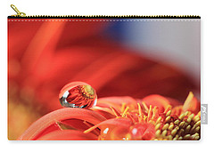 Flower Reflection In Water Drop Carry-all Pouch