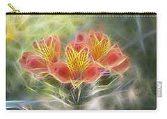 Flower Streaks Carry-all Pouch by Carol Crisafi