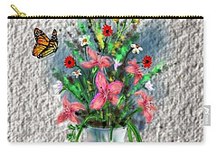 Carry-all Pouch featuring the digital art Flower Study Three by Darren Cannell