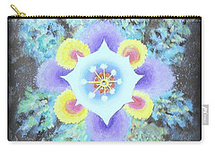 Floral Vortex Carry-all Pouch