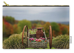 Carry-all Pouch featuring the photograph Flower Wagon by Mary Timman