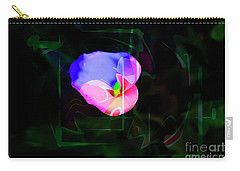 Carry-all Pouch featuring the photograph Flower Wower by Al Bourassa