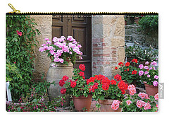 Flowered Montechiello Door Carry-all Pouch by Donna Corless