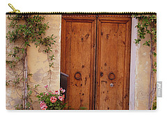 Flowered Tuscan Door Carry-all Pouch by Donna Corless