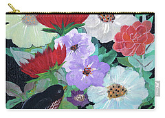 Carry-all Pouch featuring the painting Floweret by Robin Maria Pedrero
