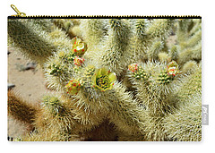 Flowering Cholla Cactus - Joshua Tree National Park Carry-all Pouch by Glenn McCarthy