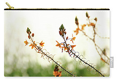 Carry-all Pouch featuring the photograph Flowering In Israel At The Sunset by Yoel Koskas