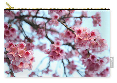 Carry-all Pouch featuring the photograph flowering of the almond tree, Jerusalem by Yoel Koskas